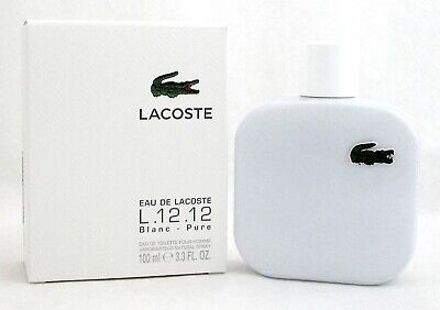 Lacoste L.12.12 Blanc Cologne by Lacoste 3.3 oz EDT Spray for Men.NEW Sealed Box