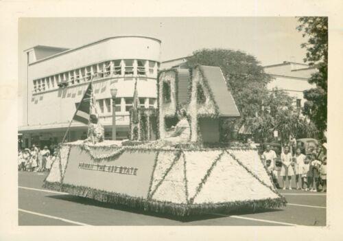 1948 Honolulu Hawaii Kam Day Parade photo Float for 49th Statehood