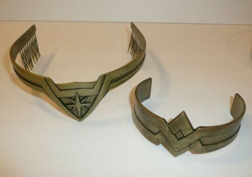 Open Box - Wonder Woman Movie Arm Cuff + Tiara Cosplay 2 Piece Set DC Comics