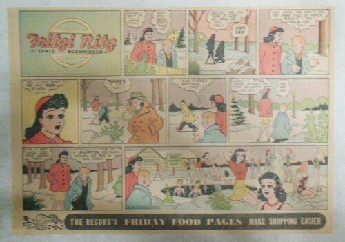 (10) Fritzi Ritz Sunday Page by Ernie Bushmiller from 1940