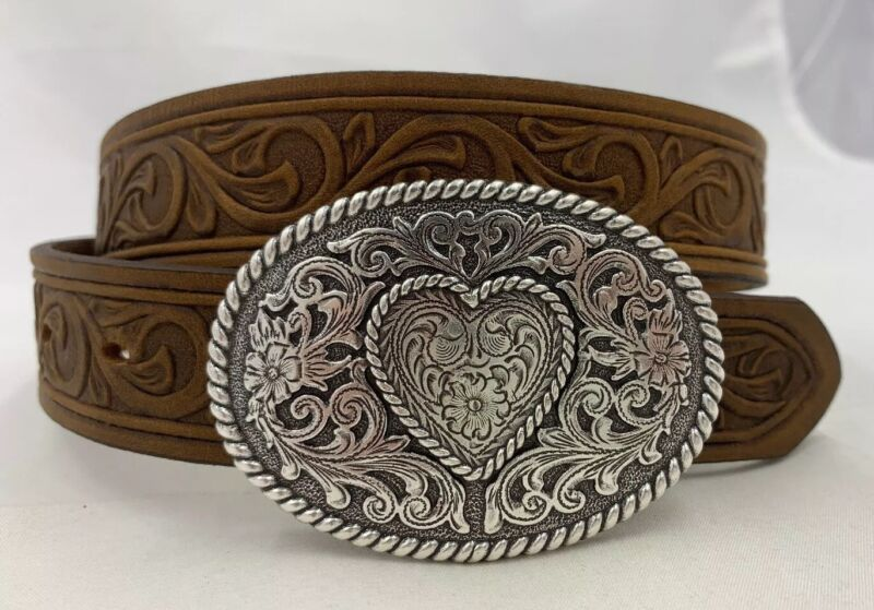 Justin New TROPHY WESTERN Belt Size 32  Made in USA 815BD