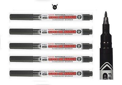 Uni Super Ink Marker Black Permanent Cd Dvd Fabric Laundry Marker Pen Pack 123