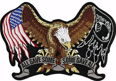 Pow Mia Eagle Patch All Gave Some US Flag Large Motorcycle Jacket Biker 11