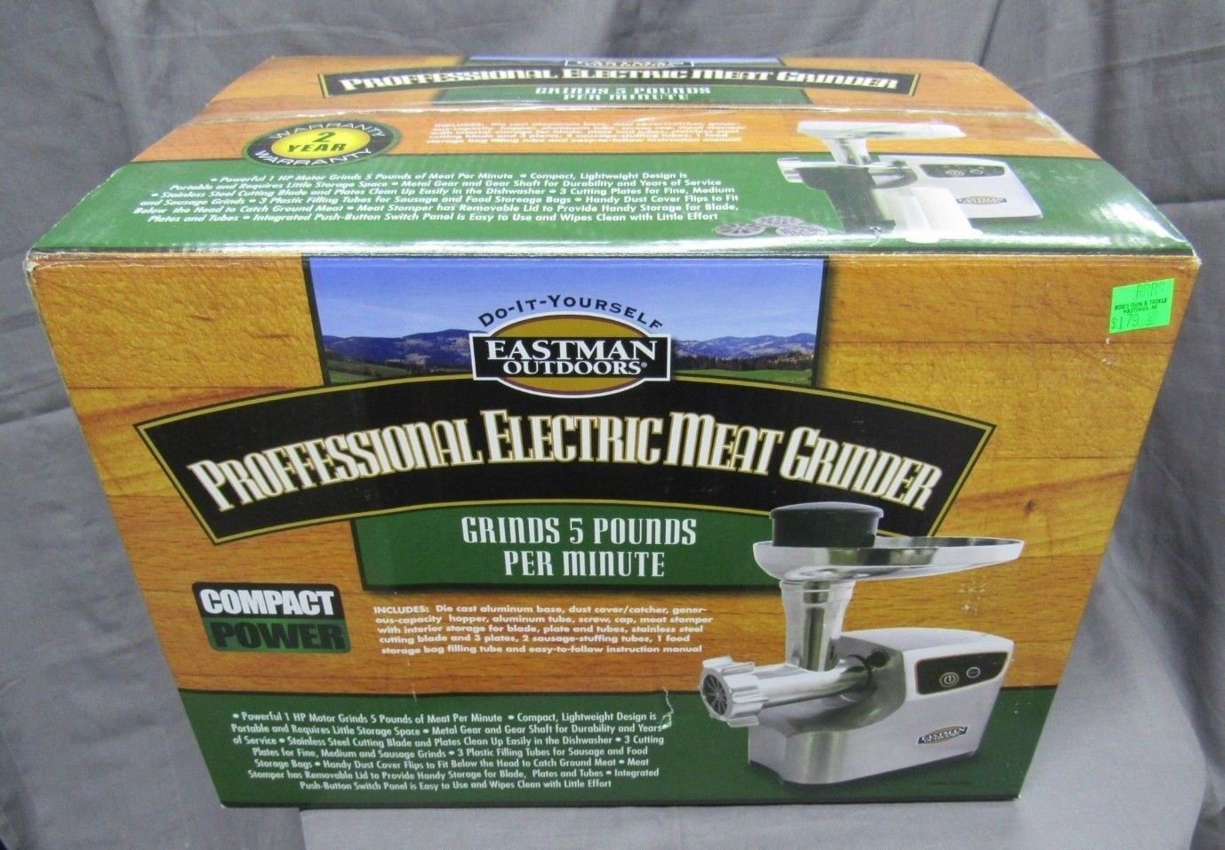 1hp professional electric meat grinder w 3