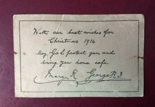 1914 Christmas card from King George V & Queen Mary