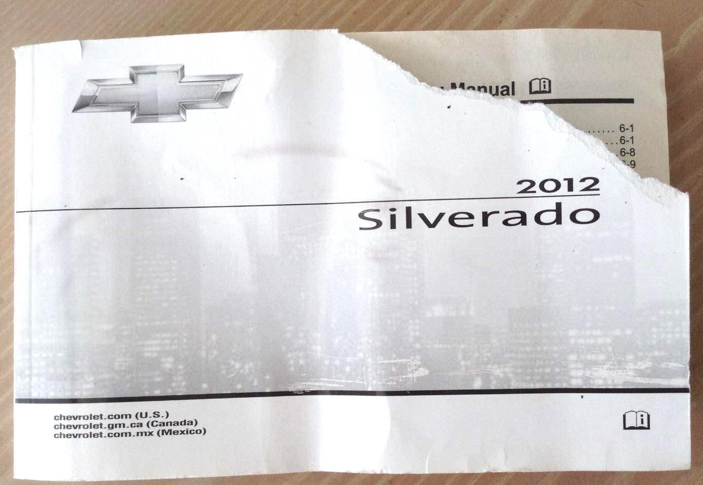 Chevy Chevrolet 2012 SIVERADO Owner Manual