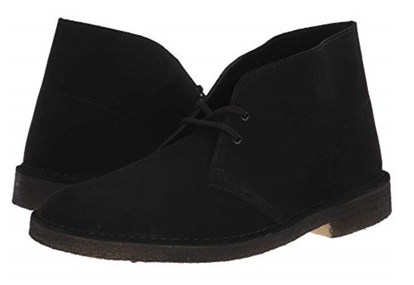 Clarks Desert Boot - Originals Mens Black Suede Shoes