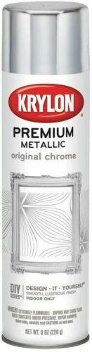 Krylon K01010A07 Premium Metallic Original Chrome Spray Paint 8 oz.