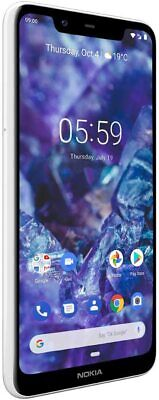 "Nokia 5.1 Plus TA-1105 32GB Glacier White 5.8"" International Unlocked Smartphone"