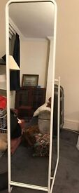 Freestanding mirror- White. As new