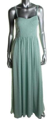 AQUA ~ Mint Green & Gold Foiled Chiffon Corset Bodice Evening Gown 2 NEW $258 Gold Corset Bodice