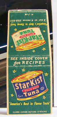 Rare Vintage Matchbook Cover Star Kist Tuna Fish Best in Flavor Tests America