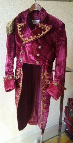 """Antique Faux Regency """"Militaryesque"""" Tailcoat & Non-matching Trousers - Used!"""