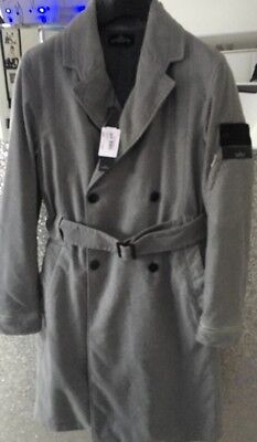 (STONE ISLAND SHADOW PROJECT DESIGNER LONG COAT & BELT BNWT RRP£940.00 SIZE LARGE)