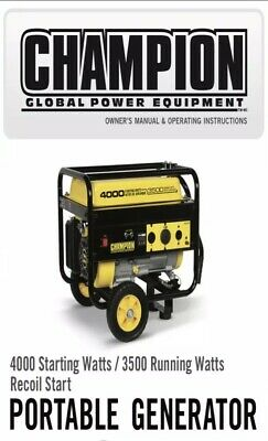 Champion 46597 RV Ready 3500W/4000W Portable Gas Generator, NIB SHIP FROM STORE