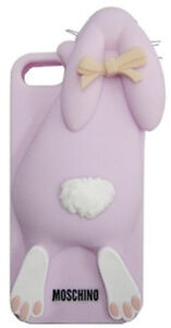 For Apple Iphone 5/5S/5C/ 4/4S Moschino Rabbit/ Cute 3D Silicone Back Cover Case