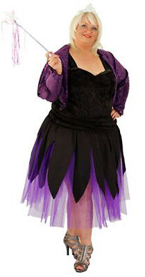 ry-GOTHIC FAIRY Fancy Dress Costumes Ladies Sizes 10-42 (Scary Fairy Halloween-kostüme)