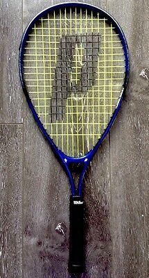 (*Prince Tennis Ball Racquet / Racket Blue Black Extender Rad 8 Hit For Lines EUC)