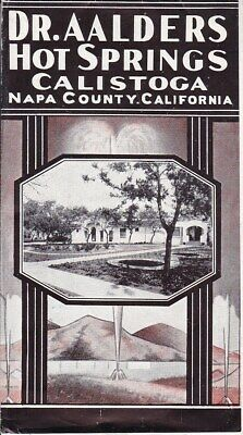 Hot Spring Dr Aalders Napa County California fold out Broshure + rates & price*d