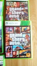 Xbox 360, 16 games, two wireless controllers, WiFi dongle and 60 GB hard drive