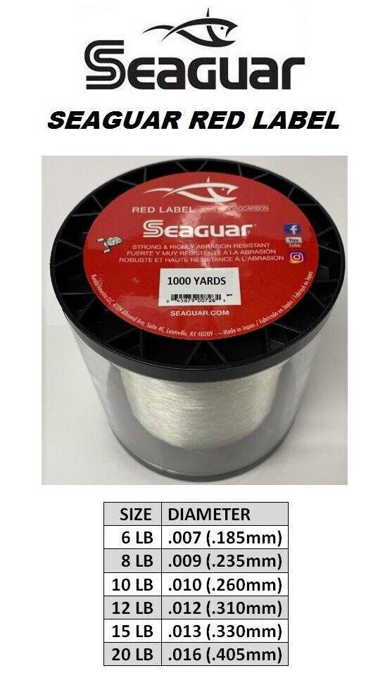 Seaguar 6rm1000 Red Label 1 Fluorocarbon 1000yd 6lb for sale online