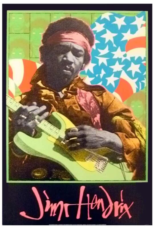 Jimi Hendrix Performance Poster by Frank Kozik 1995 Very Rare and MINT