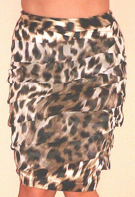 WORTHINGTON PETITE ANIMAL PRINT RUCHED FRONT PENCIL SKIRT SZ-2P - Animal Print Pencils
