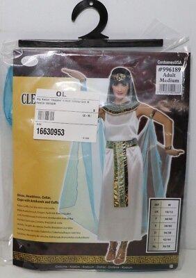 tra in Weiß/ Hellblau/ Gold Größe: M (Gold Cleopatra Kostüm)