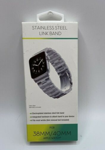 Stainless Steel Link Band For Apple Watch 38MM/40MM  Adjustable Tool Silver