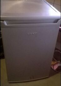 Silver Beko under counter fridge