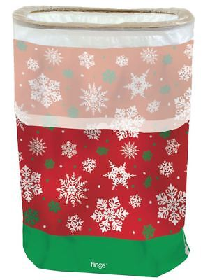 NEW Christmas Party Snowflake Flings Disposable Pop Up Trash Bin Winter Dinner