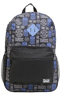 NWT BBC Doctor Who Tardis Time Lord Dr Who School Book Bag Backpack Camp (Doctor Who Backpack)