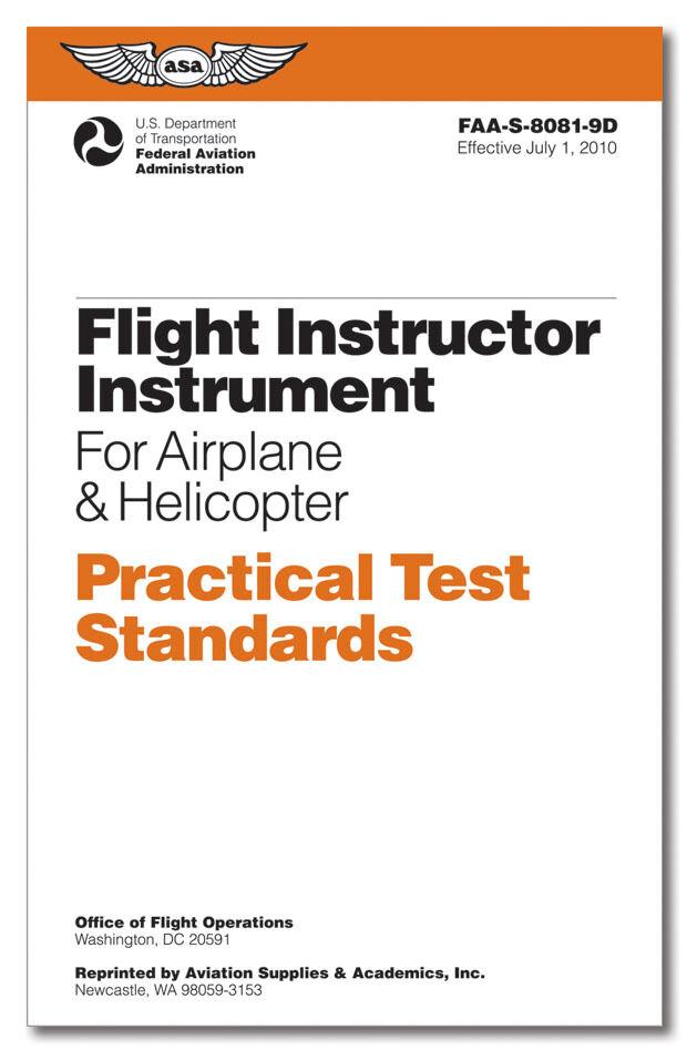 NEW ASA Practical Test Standards: CFI - Instrument   ASA-8081-9D