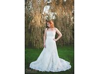 Wedding Dress by 'Watters', Antique Lace, Size 14. + Hooped Jupon Underskirt, + Veil - £199 ovno