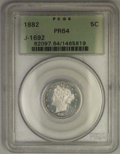 1882 Liberty V Nickel Pattern Proof Coin Pcgs Pr-64 Ogh J-1692 Judd Ww