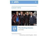 SOLD Rolling Stones at Twickenham on 19 June