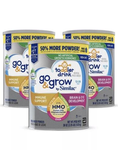 Lot Of 3 Similac Go Grow Toddler Drink Formula Milk Based 36oz NEW Exp 11/2021 - $63.98