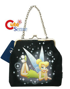 Disney-TinkerBell-Mini-Purse-Hand-Bag-Kisslock-Coin-Wallet-with-Strap