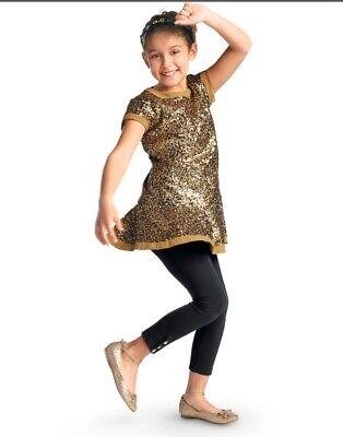 American Girl Golden Sparkle Girls Tunic Dress/ Top Size 18/20 XL New Gold - Girls Tunic Dresses