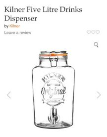 Range 5 litre drinks dispenser by kilner