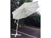 3m Garden Wind Up Crank Parasol Umbrella shade Patio Garden Furniture