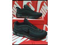 Nike air max 97 Triple black uk 8