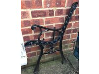 Garden bench ends in black
