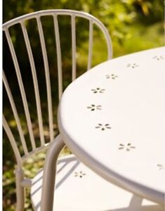 White IKEA outdoor setting - two chairs and table North Sydney North Sydney Area Preview