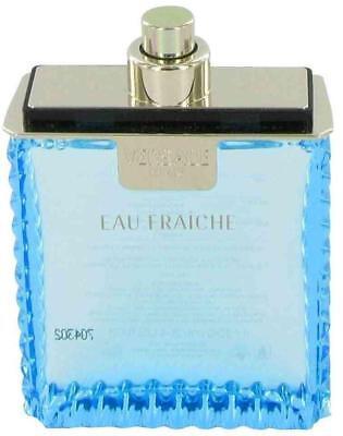 Versace Man Eau Fraiche Eau de Toilette for Men 3.3 / 3.4 oz New - 3.4 Ounce Eau De Toilette