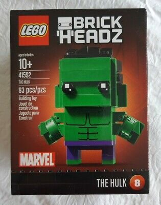 LEGO 41592 BrickHeadz Marvel Avengers Age of Ultron The Hulk New in Sealed Box