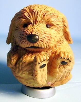 Toy Poodle Dog - Yujin Manmaru Animals Chubby Dog mini figure brown Toy Poodle US seller new