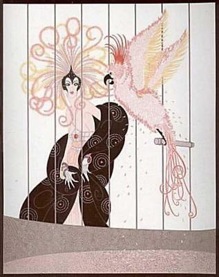 """ERTE SERIGRAPH, """"THE BIRD CAGE"""" SIGNED AND NUMBERED look at store for more ERTE"""