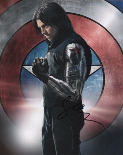 Sebastian Stan Captain America Autographed Signed 8x10 Photo COA #O4