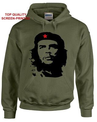 - Che Guevara Face Silhouette Iconic Retro Political Revolution Cuba Hood/Hoody